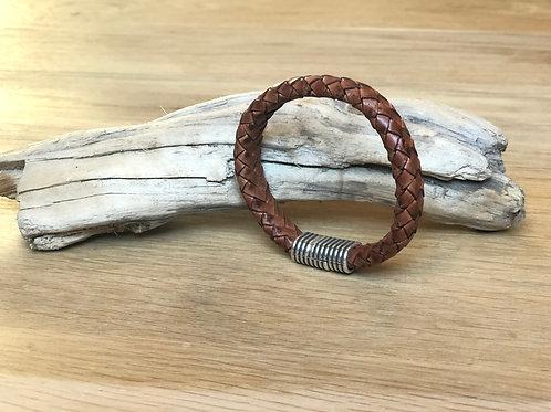 Bracelet tressé cuir de veau