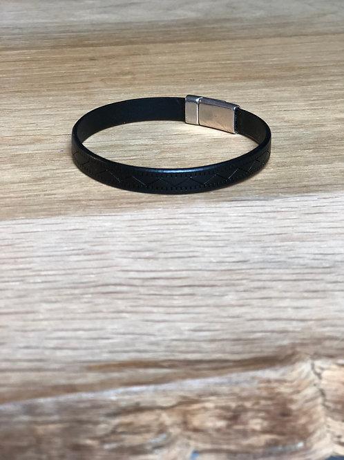 Bracelet cuir de veau noir