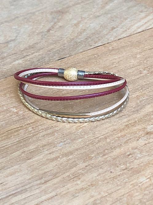 Bracelet 4 lanières cuir SALOME
