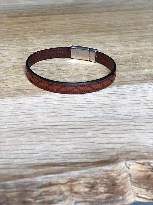 Bracelet cuir de veau marron