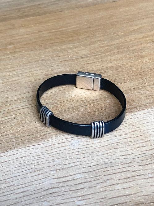 Bracelet cuir bleu marine