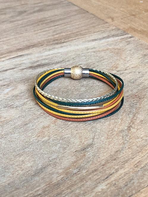 Bracelet 8 lanières cuir SALOME