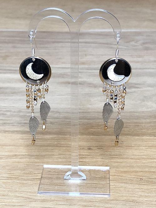 Boucles d'oreilles lune DIVINE