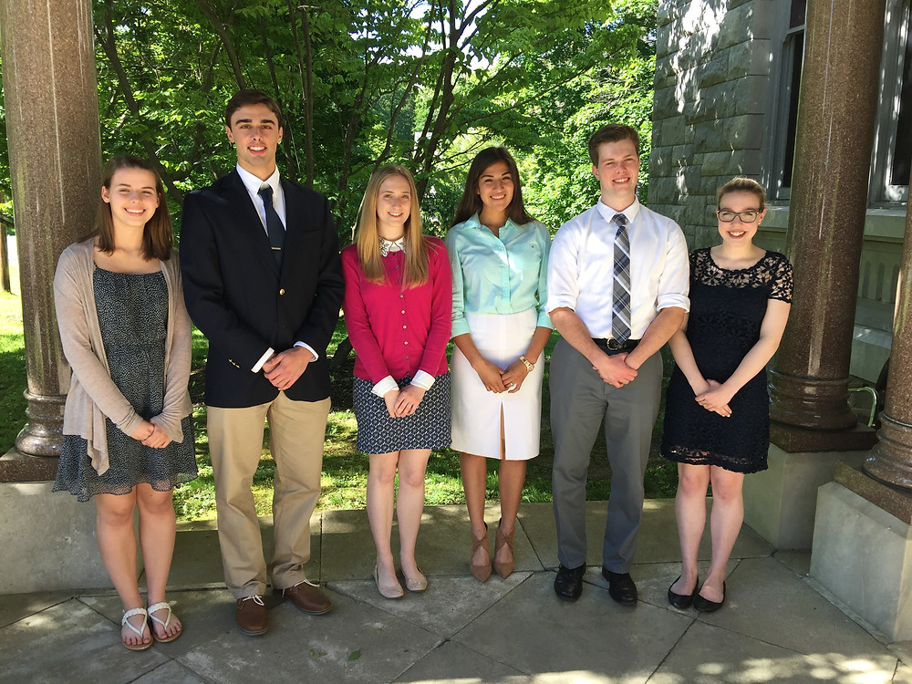 Akin Hall Association Awards $50,000 to 2017 PHS Scholars The names of the students from left to right are Elsie Martin, David Bellucci, Andra Sullivan, Jennifher Hernandez, Jake Koerner and Rachele Lena