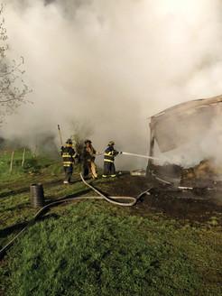 Pawling Fire Department Battles Barn Blaze