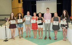 BOE Honors Top Ten Students, Retiring Faculty - Beck, Snow Bid Farewell