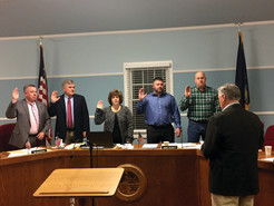 New Town Board Officials Sworn In, Kelly Appointed to Vacant Seat