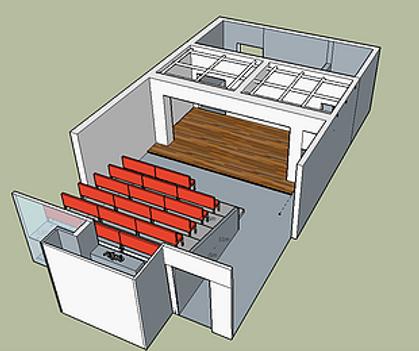 Théâtre des Brunes plan 3