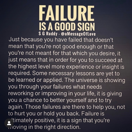 Is Failure Actually Bad?