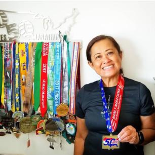 Myrna's 50 State Marathon Medals