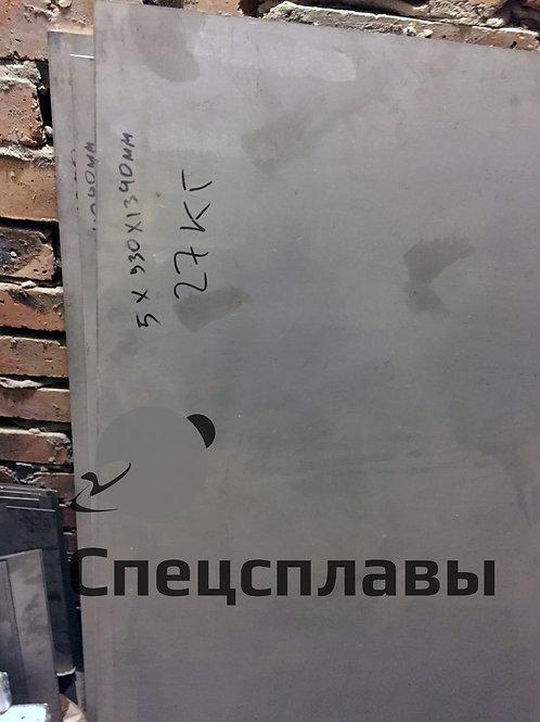 Лист титановый ВТ1-0  5 мм