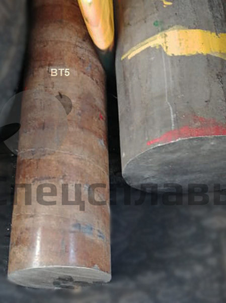 Круг титановый ВТ5 ∅100 мм, L-600 мм
