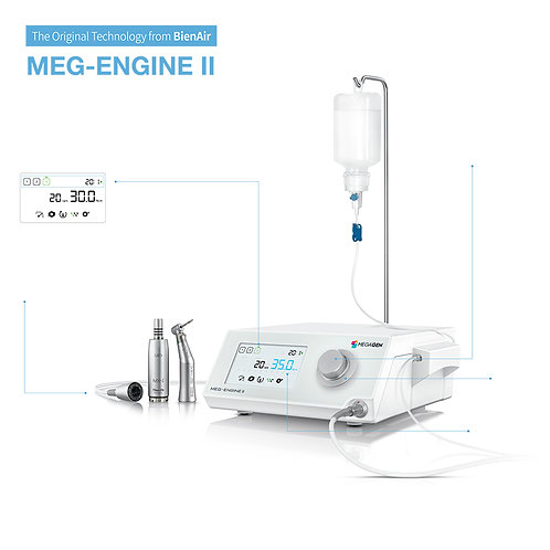 MEG-ENGINE II - Implant Motor & Handpiece