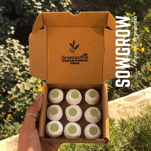 SowGrow Spinach Seedballs Box