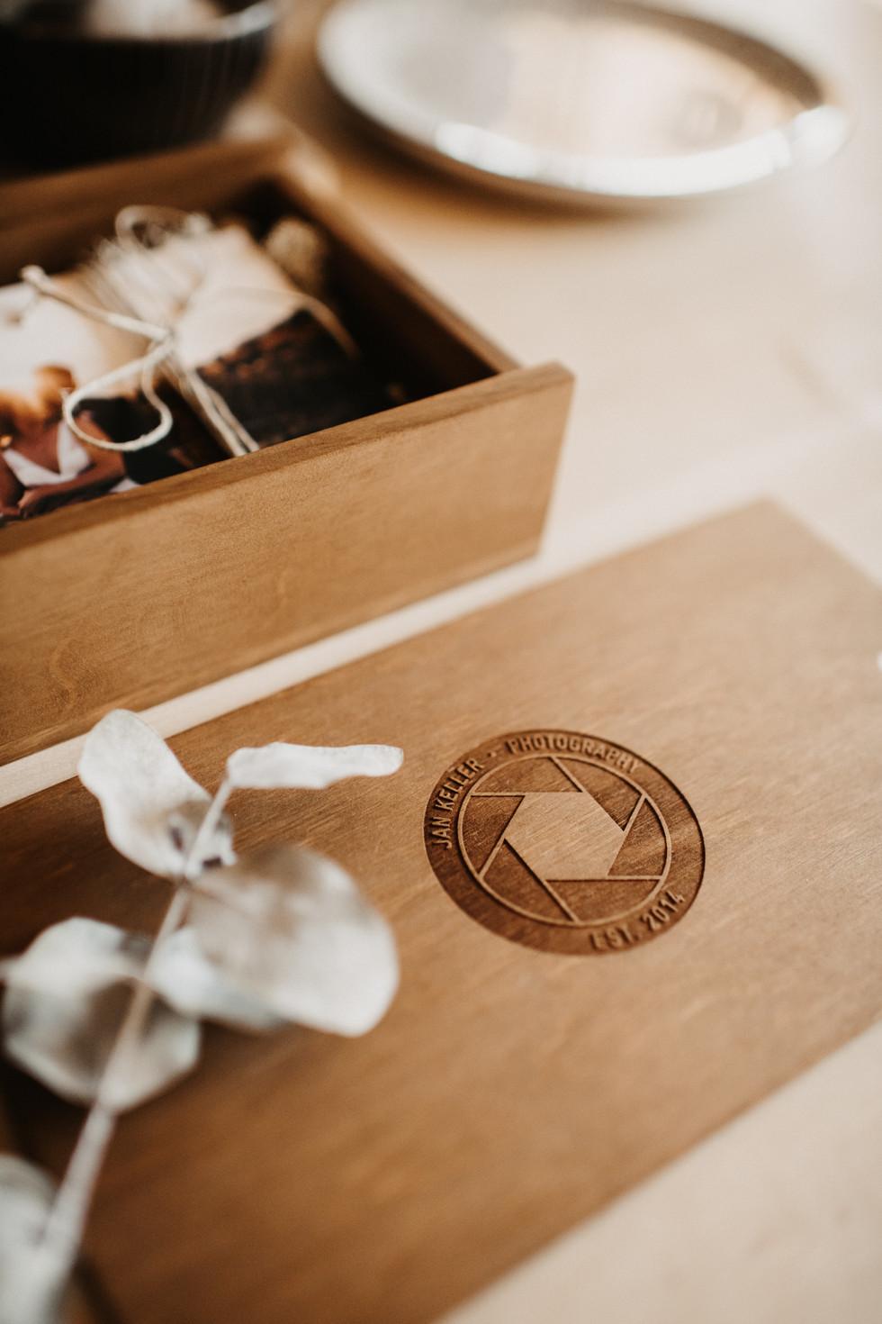 Hochzeitsbox mit USB Stick
