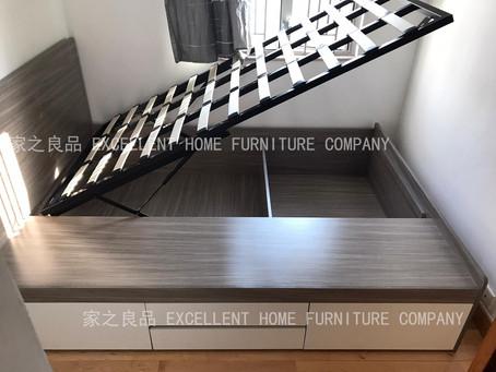 ⛑鑽石山星河明居客戶訂購了兩款床架,安裝實拍圖: