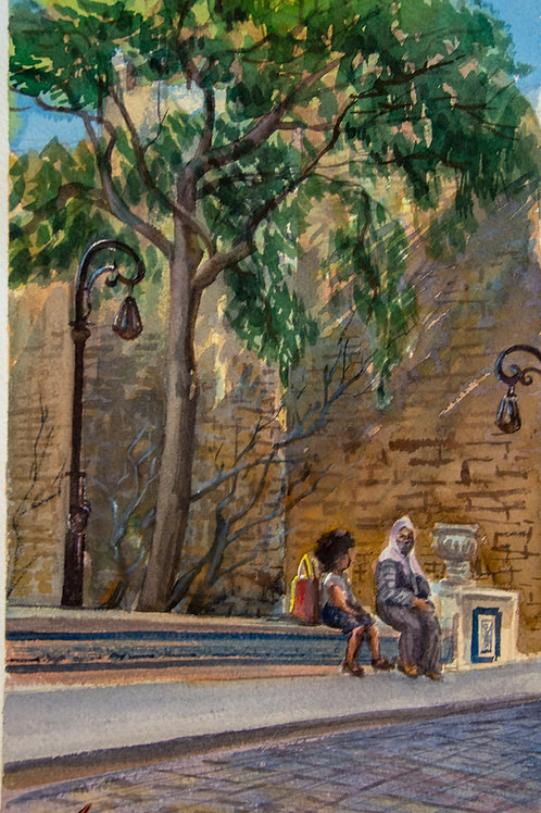 """Картина """"Ичери Шехер, Стена."""""""