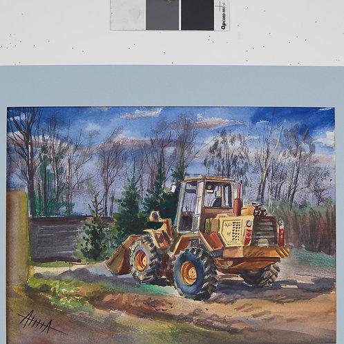 """Картина """"Трактор"""""""