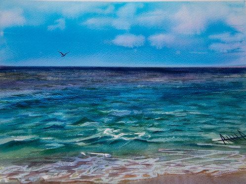 """Картина """"вид на море со склона Тавр"""""""