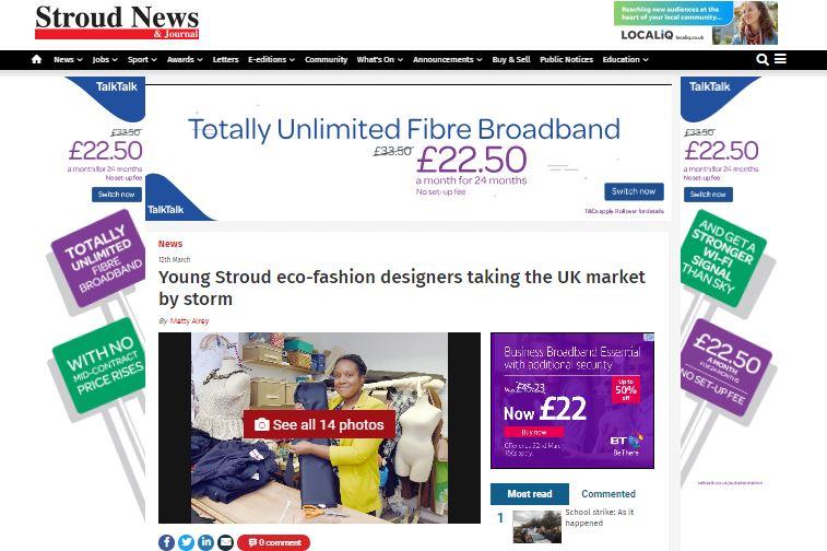 Stroud news, UK, sustainable fashion, ma