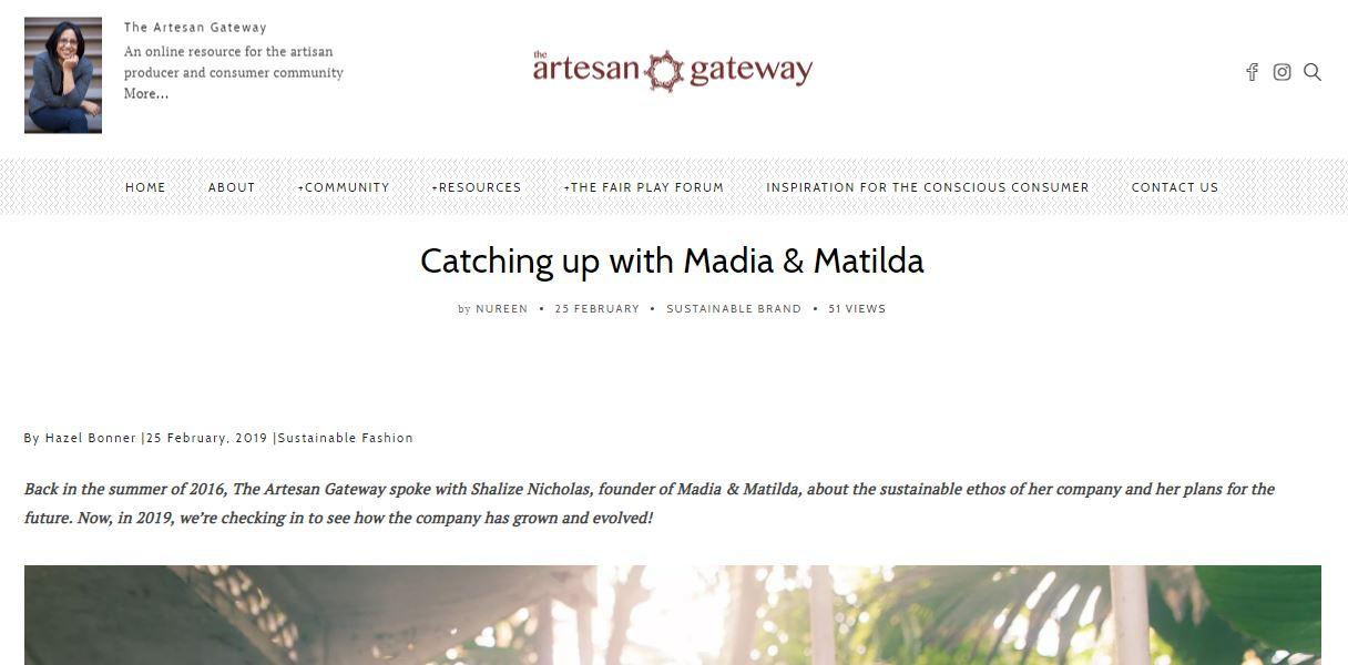 the artesan gateway, madiamatilda, Catch