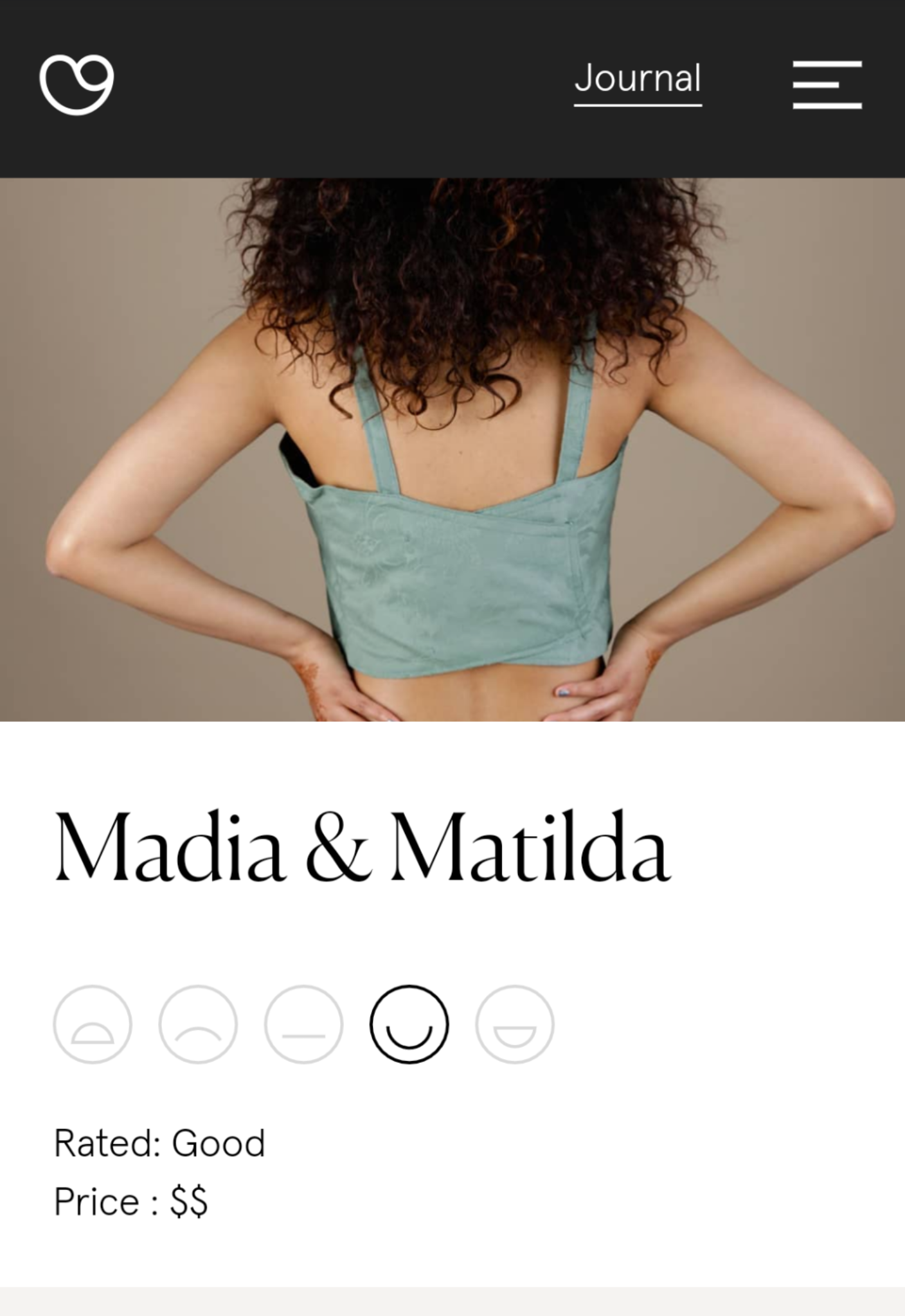 Good on you - Rated Great, Madia Matilda