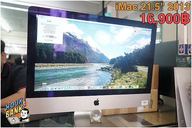 """iMac 21"""" 2013 มือสองตัวบางสภาพดีเครื่องลงโปรเเกรมพร้อมใช้งาน"""