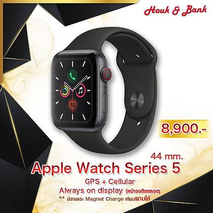 Apple Watch Series 5 44mm. GPS + Cellular สี space gray (ใช้ e-Sim ได้)