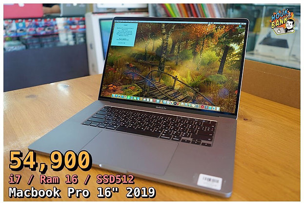 (used) m-4128 macbook pro 16' ssd 512 gb ram 16 gb
