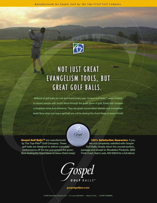 Gospel Golf trade ad