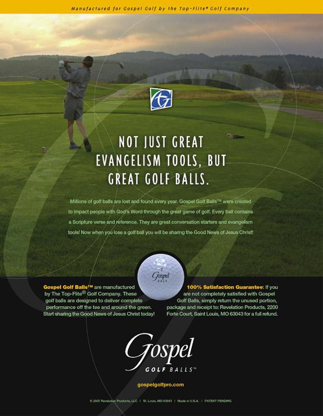 Gospel Golf trade ad