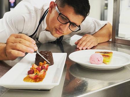 Chef Making Desserts