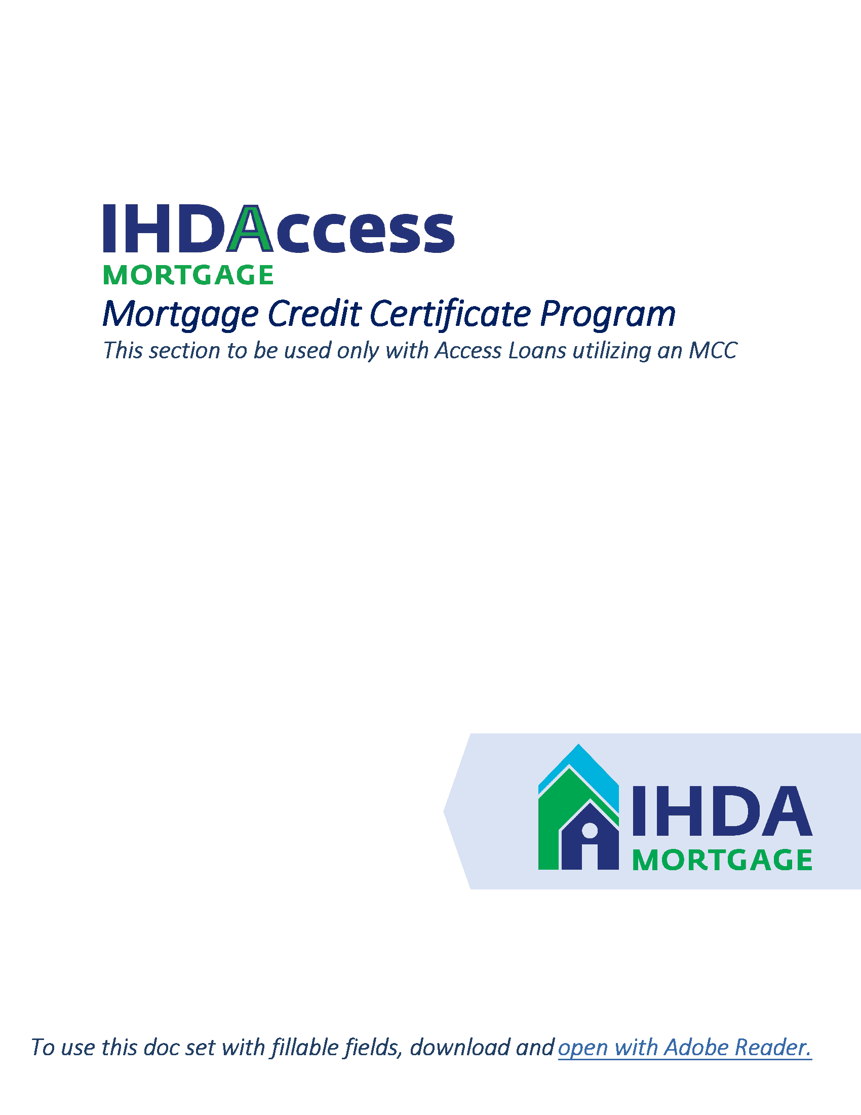IHDA Mortgage Document Library