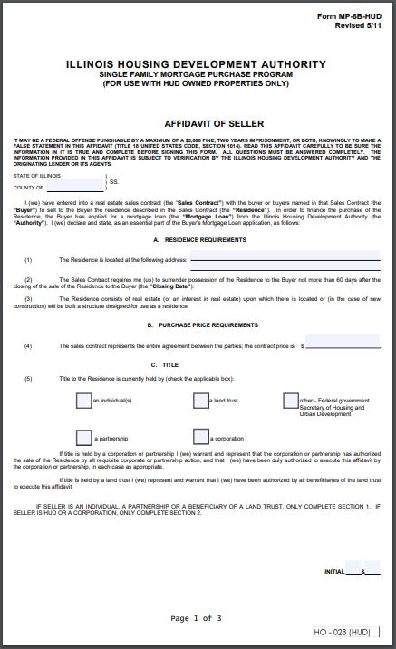 IHDA Mortgage Document Library
