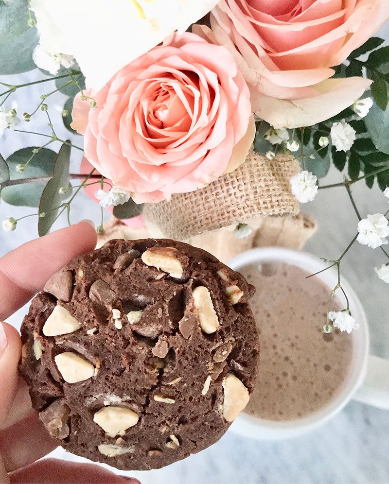 Made to milk cookie with hot chocolate!