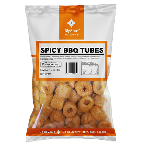 Nibble Tubes Spicy BBQ 80g