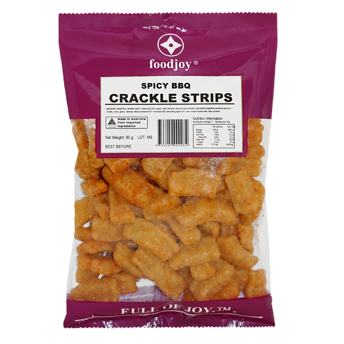 Crackle Strips Spicy BBQ 80g