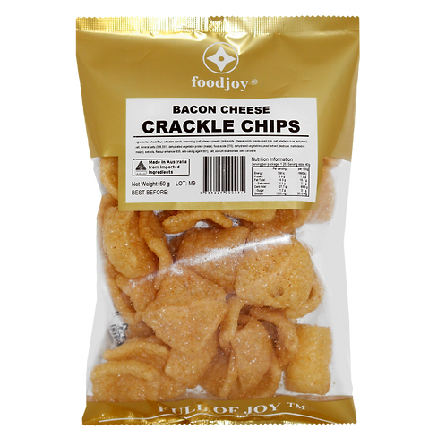 Crackle Chips Bacon Cheese 50g