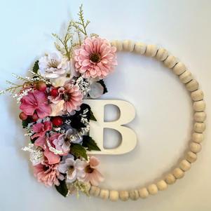 Monogram Beaded Wreath