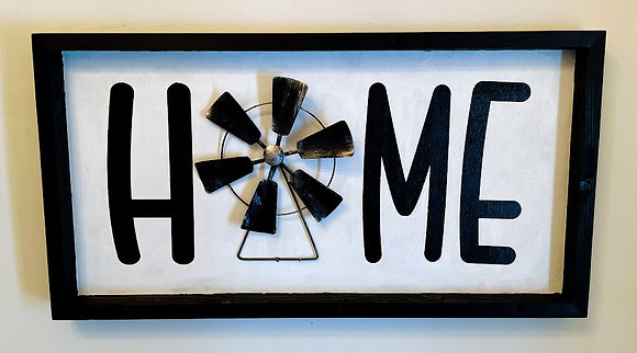 Windmill Home Sign