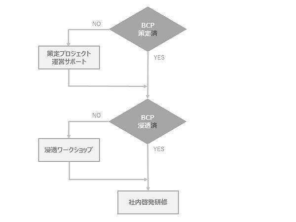 BCP浸透・啓発フローチャート