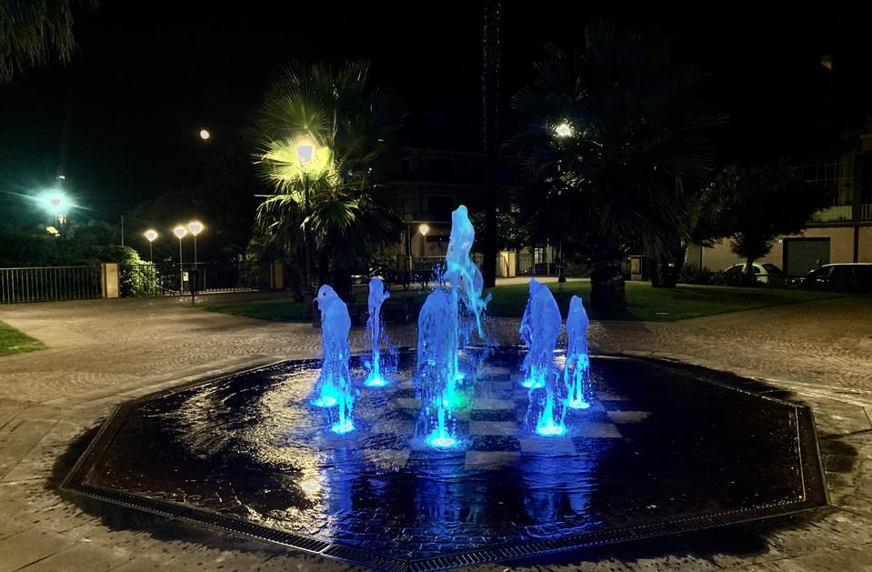 illuminazione fontane a raso