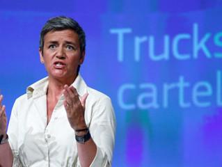 Un cártel de fabricantes del 90% de los camiones que circulan en Europa recibe la mayor multa de la