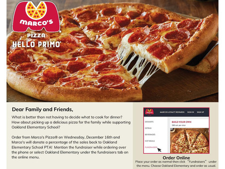 Marco's Pizza Flavorful Fundraiser