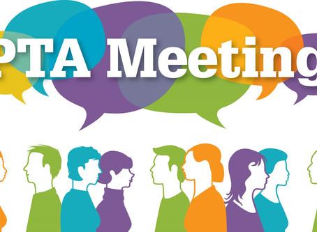October PTA Meeting