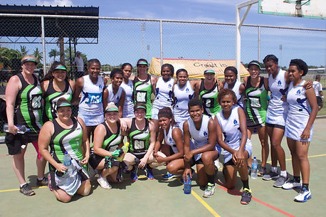 Travelling team with their sponsored team