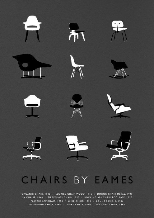 Visual Graphc - 'Chairs by #Eames' illustrated by Weavers Of South Sea
