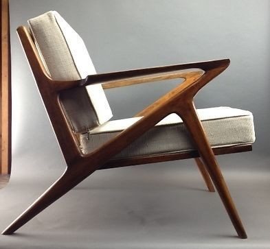 Danish Mid Century Modern Selig Z Style Teak Lounge Chair                                                                                                                                                                                 More