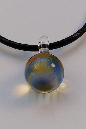 """Pendentif """"sphère"""" en verre de couleurs"""