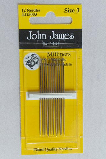 John James Milliners Size 3 x12